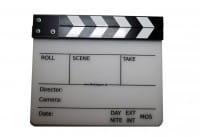 Filmklappe Klassisch, s/w 28 x 23,5 cm