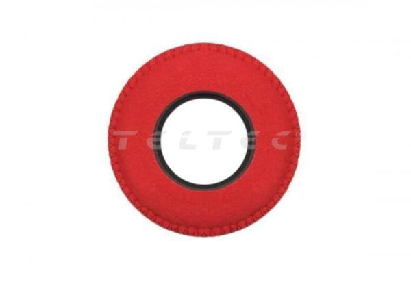 Bluestar Augenleder aus Mikrofaser rund, groß Rot