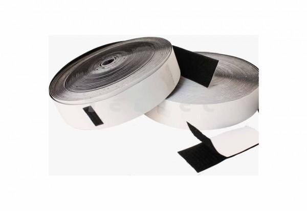 Selbstklebendes Klettband Loop 50mm x 25m schwarz