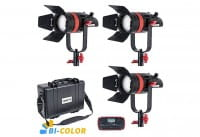 CAME-TV Boltzen 55W Fresnel LED Bi-Color 3er Kit